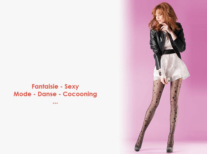 cf74f9ed2f8256 Les fantaisies de Julie - Chaussettes et collants fantaisie femme et ...